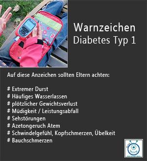 Warnanzeichen Kinder Diabetes Typ 1