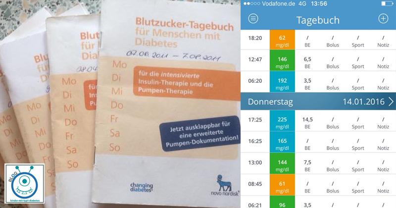 Diabetes Kids Blutzucker Tagebuch führen