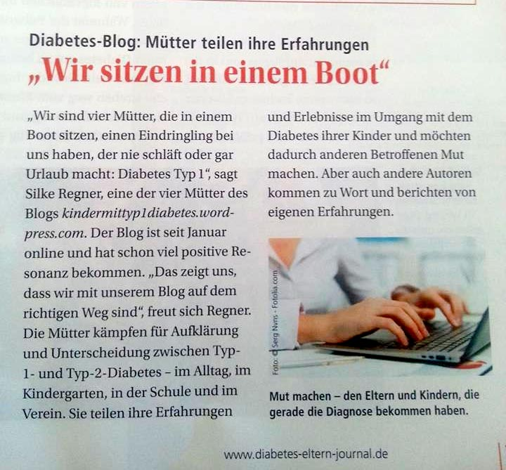 Kinder mit typ 1 Diabetes blog im Diabetes journal