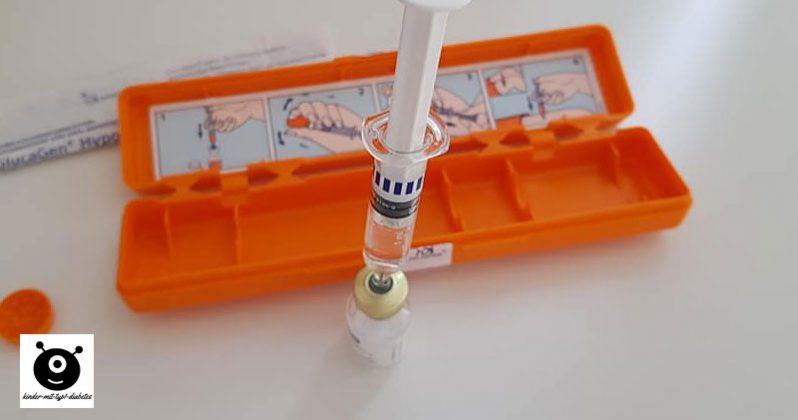 Notfallspritze Glucagen Hypokit Kinder diabetes